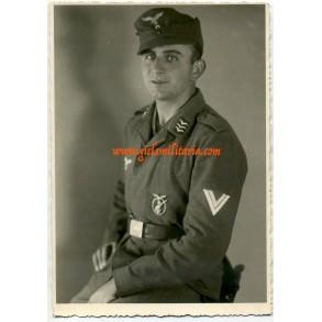 Portrait Obergefr. F. Wagner; Flakreg. 29 mot., Hamburg/Blankenese 1943