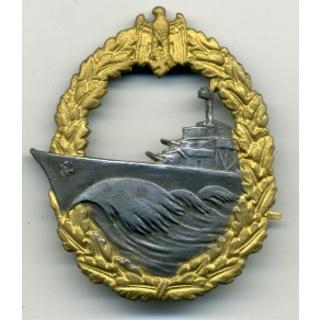 Kriegsmarine destroyer badge by P. Meybayer
