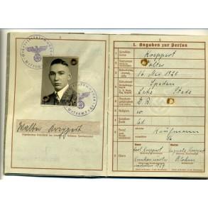 Wehrpass to W. Kreppert, Battle ship Schlesien, Coastal Artillerie, KIA 1941