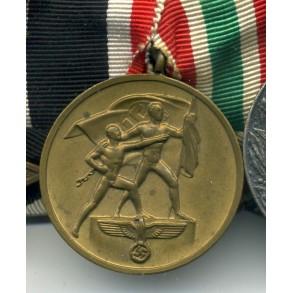 Medal bar with memel medal Type 1 by Hauptmünzamt, Berlin