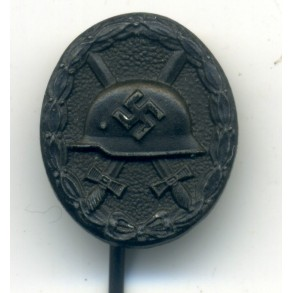 Wound badge in black miniature by W. Deumer, 16mm. Chaos pattern!