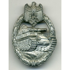 Panzer Assault Badge in silver by F. Linden