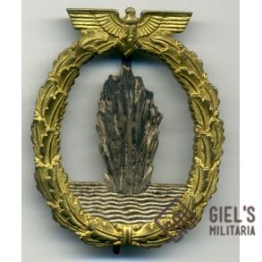 Kriegsmarine minesweeper badge by Richard Simm & Sohne