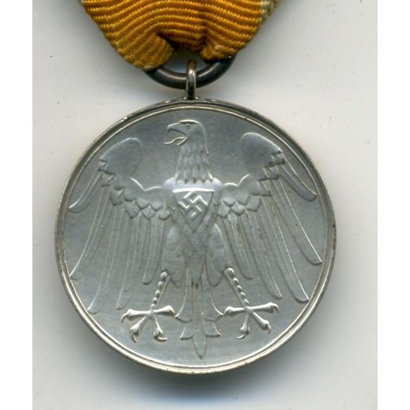 Military life saving medal with ribbon