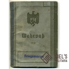 Kriegsmarine Wehrpass to G. Hagen; Coastal Artillerie Nordsee + ID tag!!