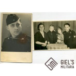 2 portraits of panzer crew members