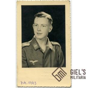 Portrait Luftwaffe gefreiter,  Auxerre, France